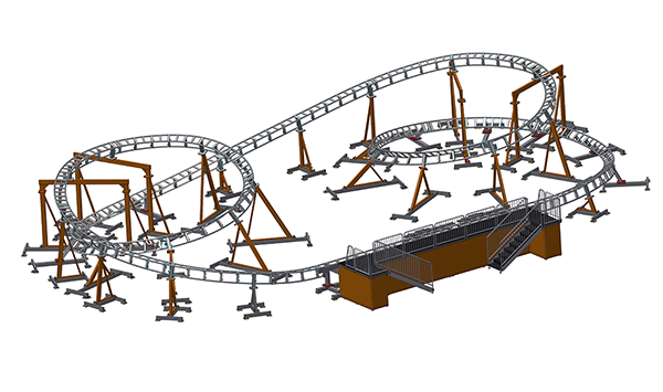 Dragon coaster PC120 render