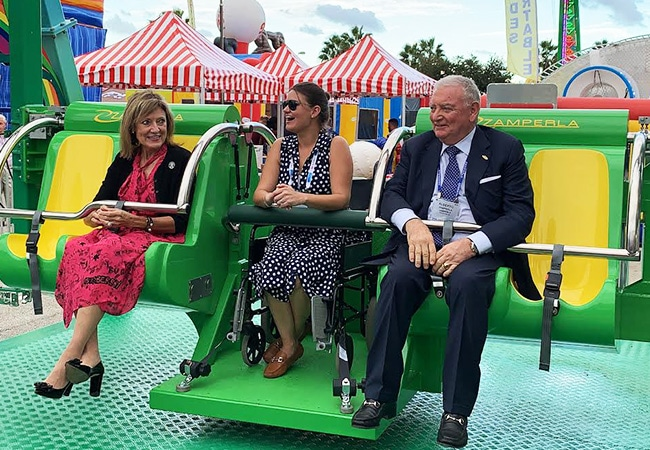Give Kids the World receives wheelchair-accessible ride donation from Zamperla