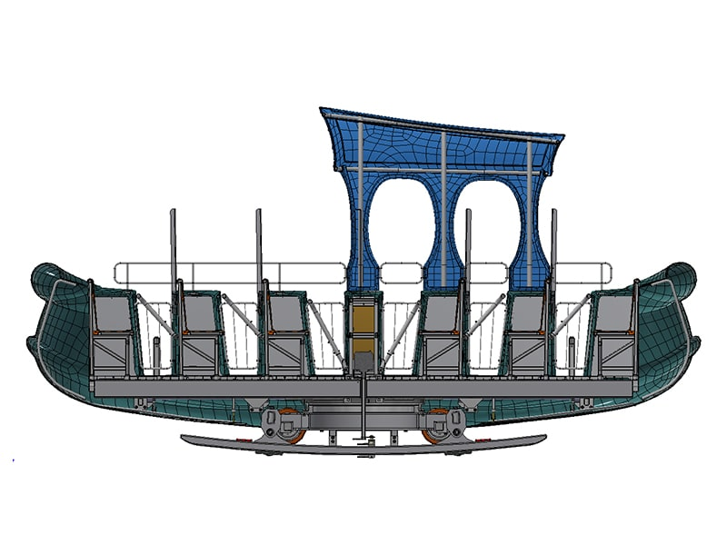 Rocking Tug with plexiglass
