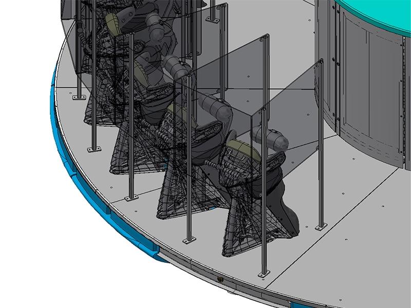 Disk'o Coaster with plexiglass