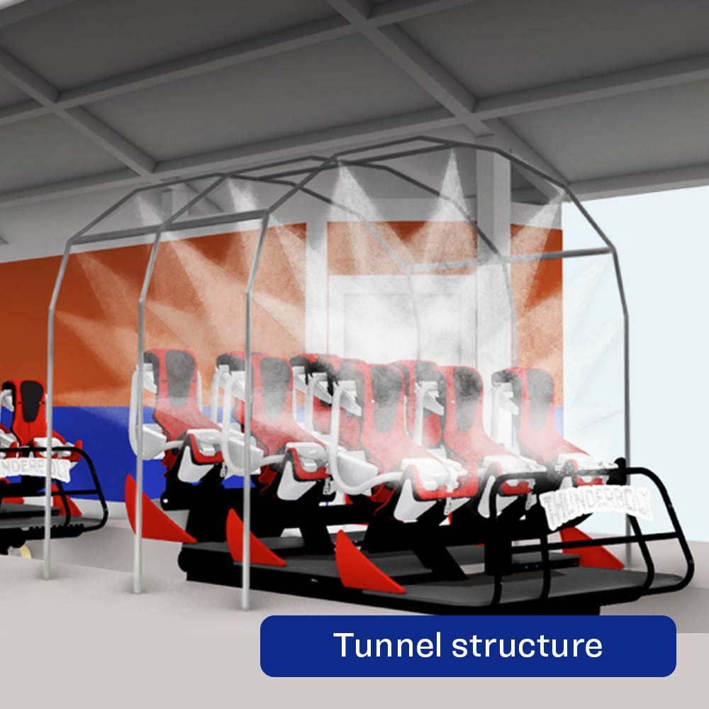 The Wash-Through Ride System-Tunnel Structure